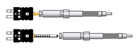 Adjustable Melt Bolt Thermocouples (Mineral Insulated Probe)